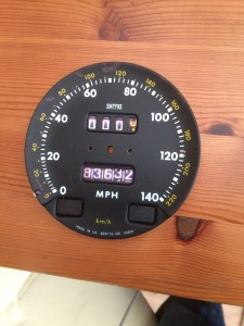 Speedo with fake mileometer