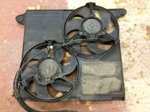 XJR dual electric fan assembly