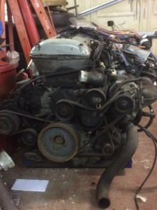 Engine prior to cleaning