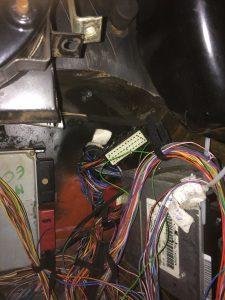 ECU plugs poking throught the hole