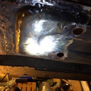 Repair panel fitted (Underside)