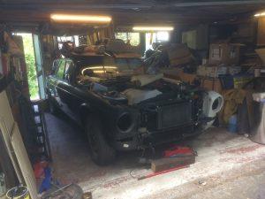 Garage part packed